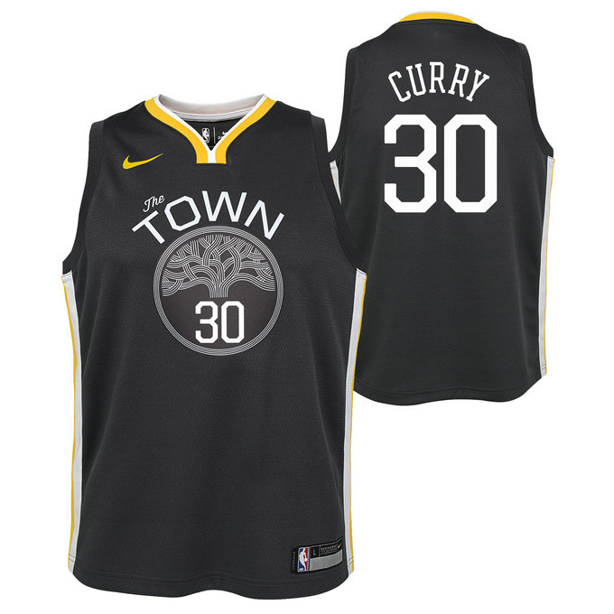Maillot NBA Enfant Stephen Curry GS Warriors Swingman Statement Gris