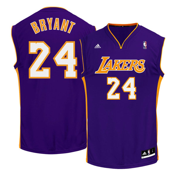 Maillot NBA Kobe Bryant LA Lakers replica away adidas Violet