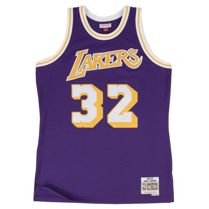 Maillot NBA Magic Johnson LA Lakers 1984-85 Swingman Mitchell&Ness Violet