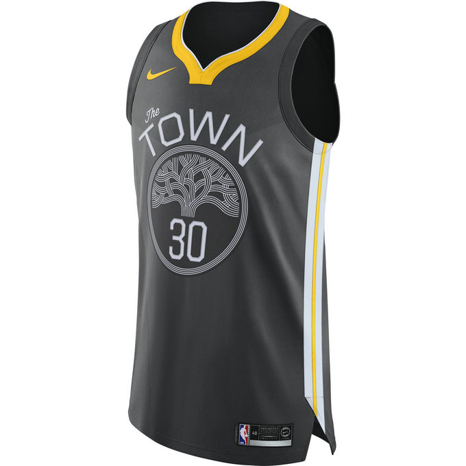 Maillot Stephen Curry Golden State Warriors Statement Edition Authentic Noir