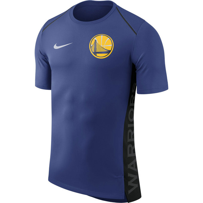 Shooting Golden State Warriors Dry Hyper Elite manches courtes Bleu