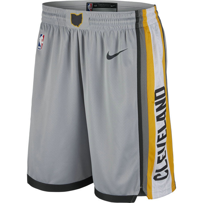 Short Cleveland Cavaliers City Edition Swingman Gris