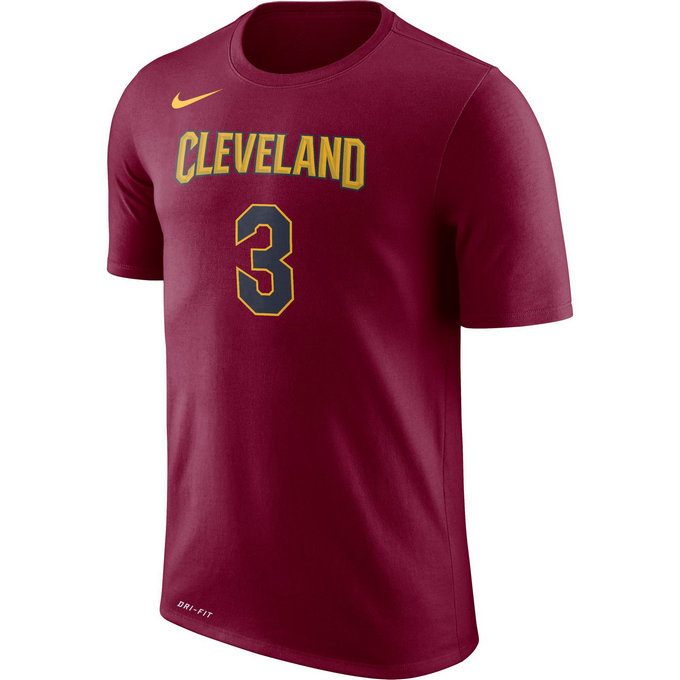 T-shirt Isaiah Thomas Cleveland Cavaliers Dry Rouge