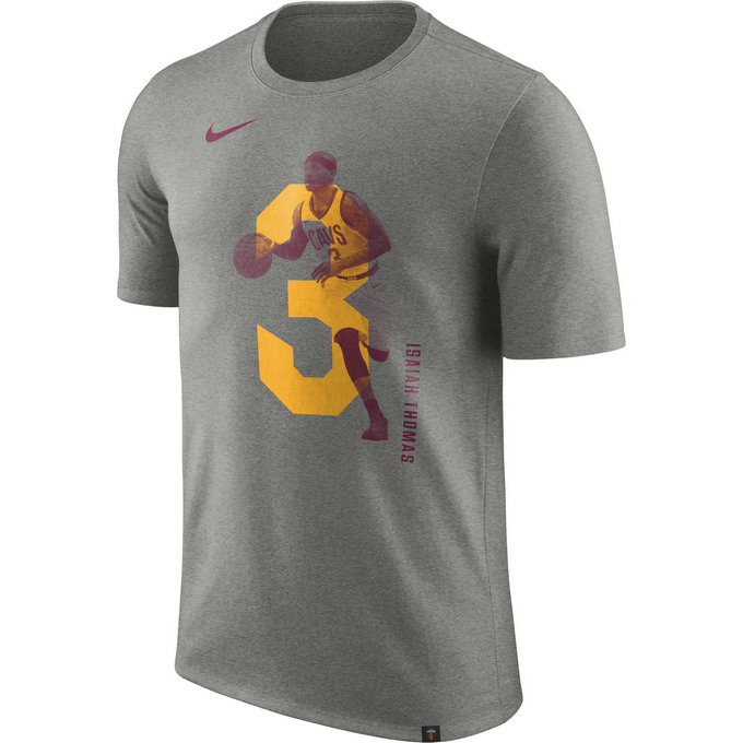 T-shirt Isaiah Thomas Cleveland Cavaliers Gris