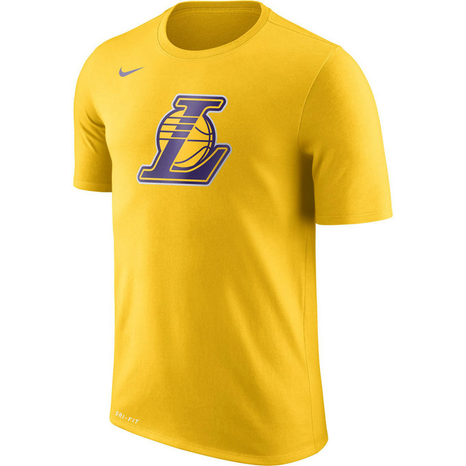 T-shirt Los Angeles Lakers Dry Logo Jaune