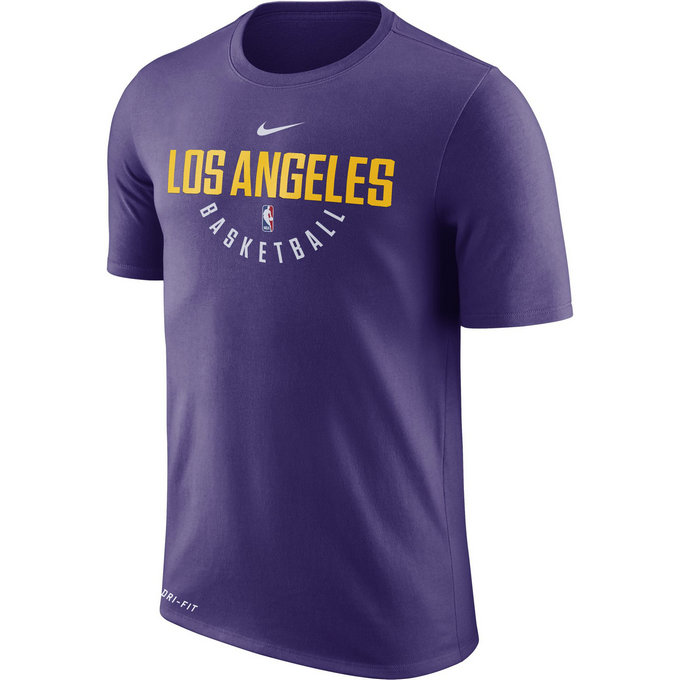 T-shirt Los Angeles Lakers Dry Violet
