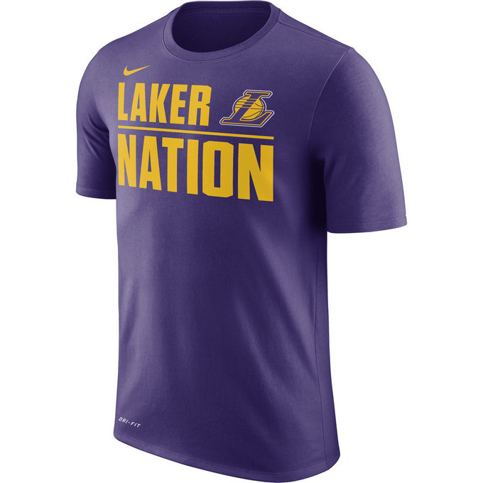 T-shirt Los Angeles Lakers Dry court Violet