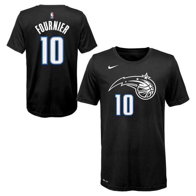 T-shirt NBA Enfant Evan Fournier Orlando Magic City Edition Noir