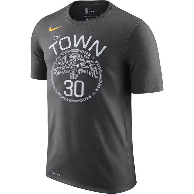 T-shirt Stephen Curry Golden State Warriors Statement Dry anthracite Noir
