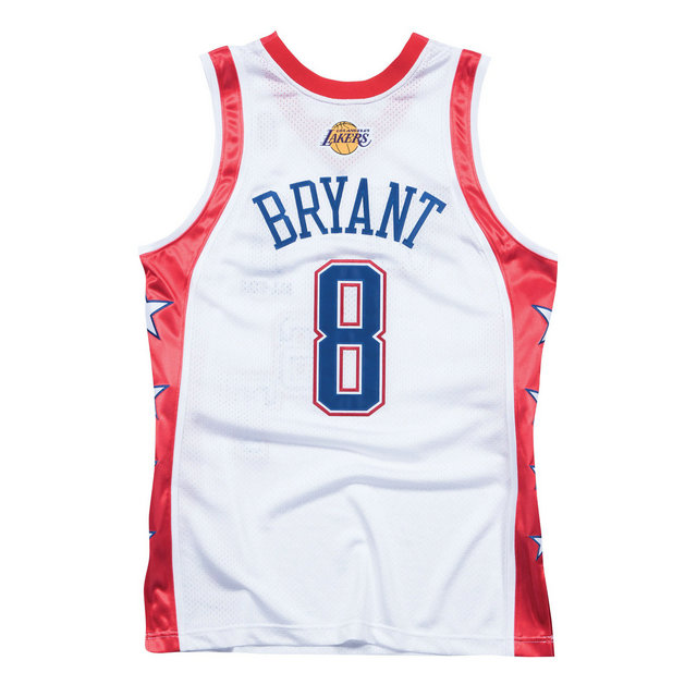 Maillot NBA All-Star Kobe Bryant 2004 West Authentic Mitchell&Ness Blanc