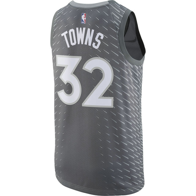 Maillot Karl-anthony Towns City Edition Minnesota Timberwolves Swingman Noir