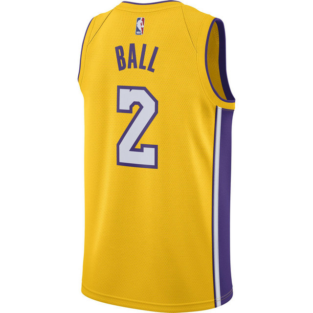 Maillot Lonzo Ball Icon Edition Swingman los Angeles Lakers Jaune