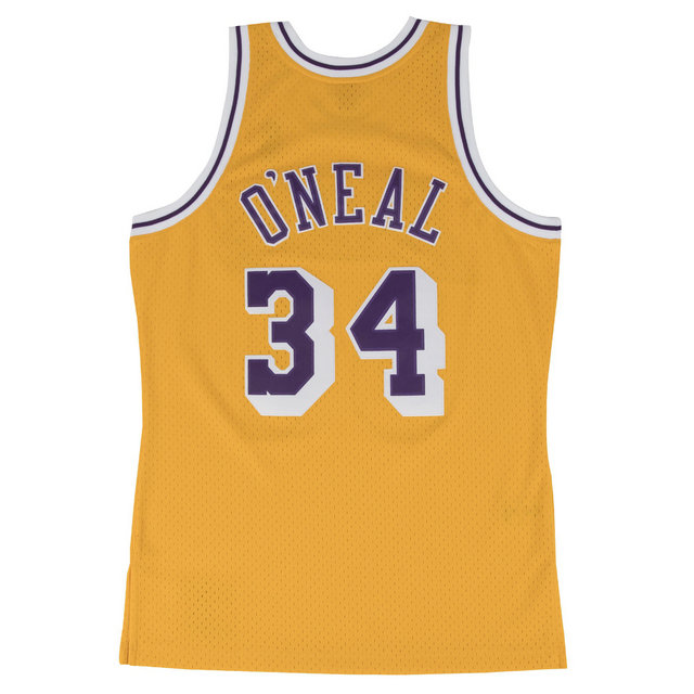 Maillot NBA Shaquille Oneal LA Lakers 1996-97 Swingman Mitchell&Ness Jaune