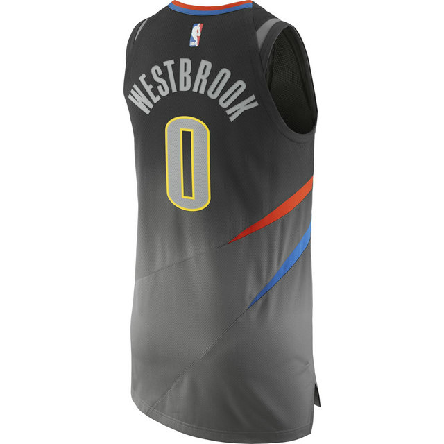 Maillot Russell Westbrook City Edition Oklahoma City Thunder Authentic Noir