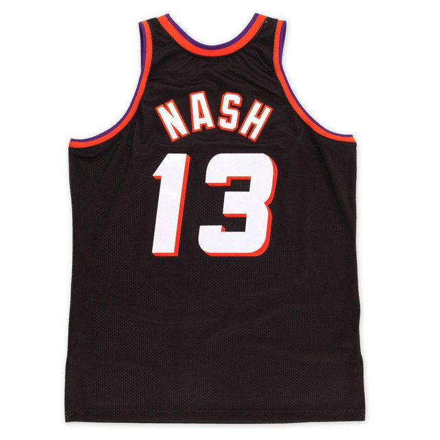 Maillot NBA Steve Nash Phoenix Suns 1996-97 Swingman Mitchell&Ness Alternate Noir