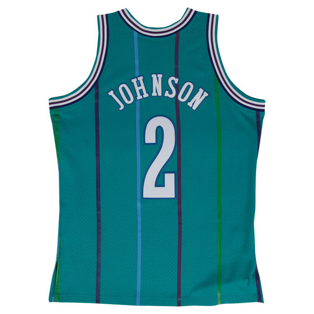 Maillot NBA Larry Johnson Charlotte Hornets 1992-93 Swingman Mitchell&Ness Bleu