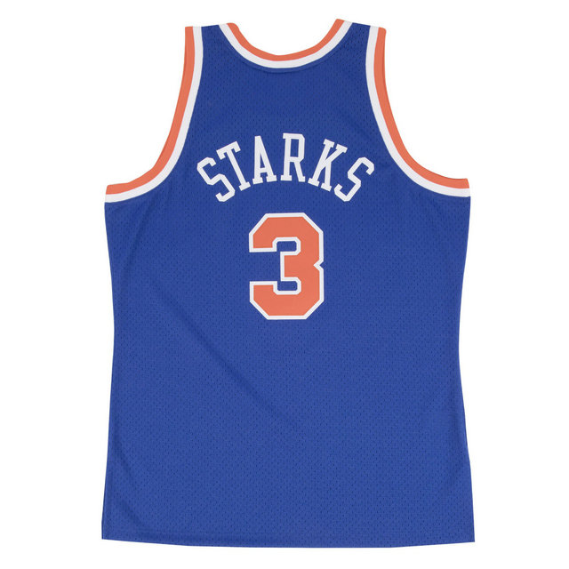 Maillot NBA John Starks New-York Knicks 1991-92 Swingman Mitchell&Ness Royal Bleu