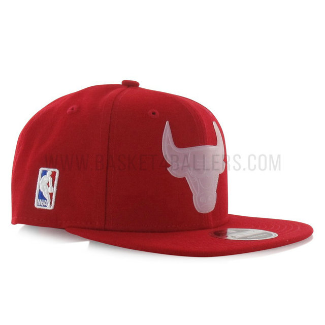 Casquette New Era Transparent Logo 9Fifty Chicago Bulls Rouge