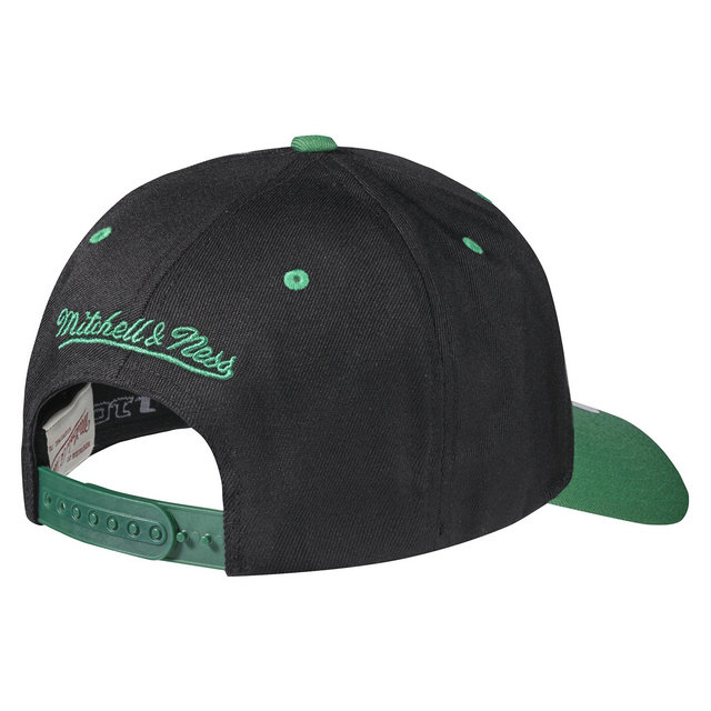 Casquette Mitchell & Ness Team Logo 2-tone 110 Snapback Boston Celtics Noir